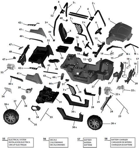Rzr 170 Wiring Diagram by Peg Perego Polaris Ranger Rzr Parts