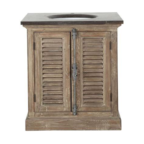 chambre fille bébé meuble vasque en bois recyclé et marbre l 80 cm persiennes
