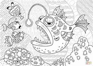 Anglerfish Coloring Page Free Printable Coloring Pages