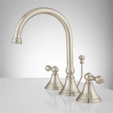 melanie widespread gooseneck bathroom faucet lever