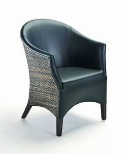 Fauteuil Cuir Noir : fauteuil bridge cuir lloyd loom brin d 39 ouest ~ Melissatoandfro.com Idées de Décoration