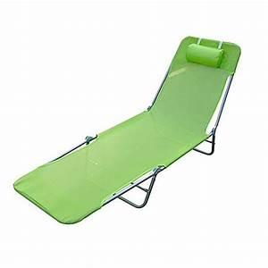Chaise Longue Pliante : chaise longue pliante bain de soleil inclinable tr achat ~ Melissatoandfro.com Idées de Décoration