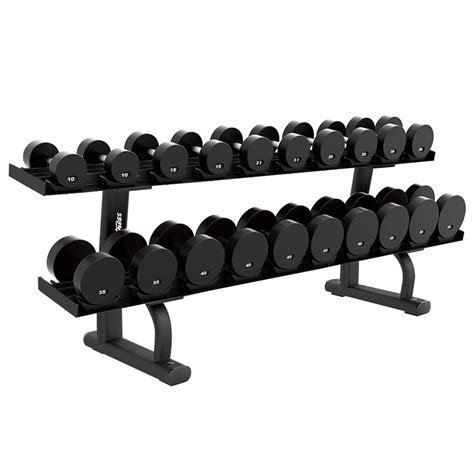 life fitness signature series  tier dumbbell rack  gym equipment