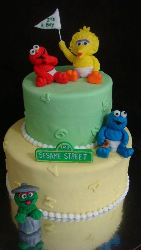 sesame baby shower cake 9 best sesame babyshower images on