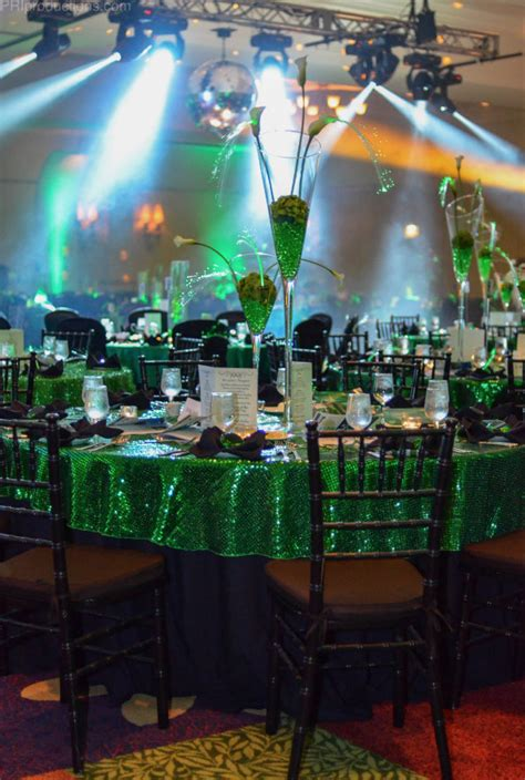 wizard  oz emerald city inspired tables  green