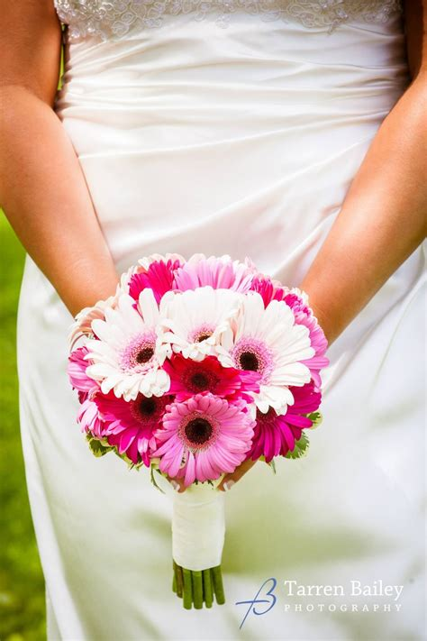 a clean and simple handtied wedding bouquet of only