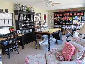 CRAFTY STORAGE: Karen's Sewing and Craft Room