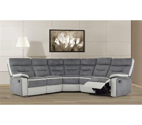 but canapé relax canapé d 39 angle relax titan gris et blanc canapés but