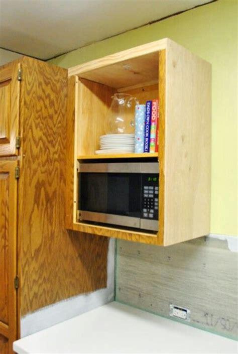diy microwave shelf microwave cabinet lake house