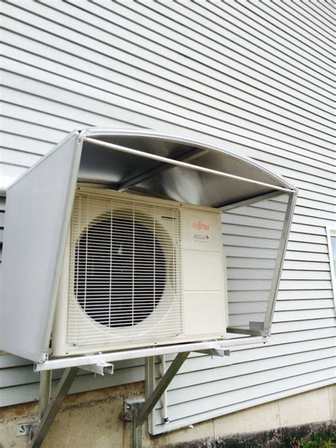 ductless heat pump covers shelters