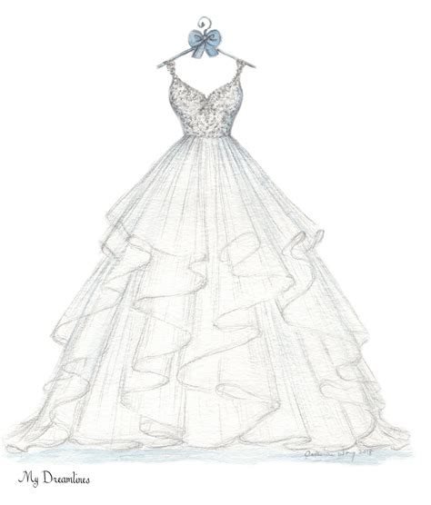 pin  wedding dress sketch dreamlines   wedding