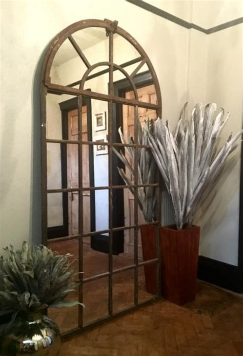 tall full arch vintage window mirror  tall arch antique mirror interior tfar