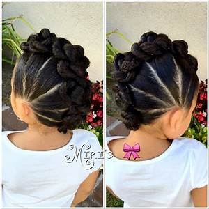 Mohawk with twists hair style for little girls | Hair Tips ...