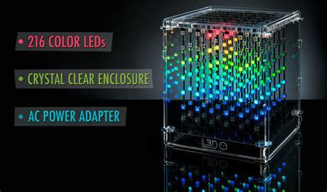 ld cube interactive programmable  led art piece