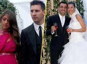 dã co de mariage photos lionel messi sur 31 pour le mariage de co équipier xavi hernandez