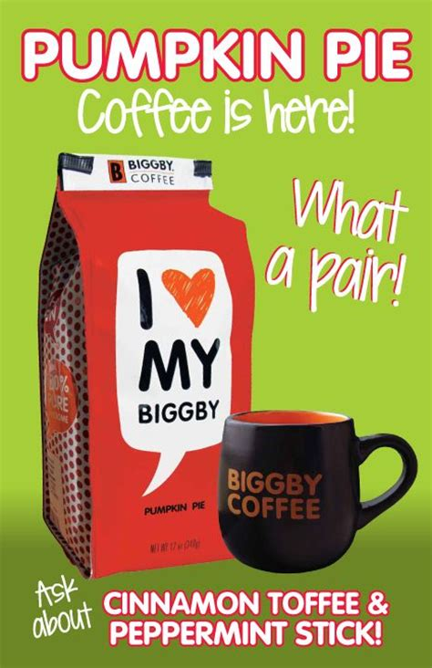 Brewed coffee from BIGGBY! | Drink Great Coffee! | Pinterest
