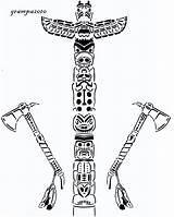 Totem Pole Coloring Pages Scroll Saw Pattern Totems Native Indian Poles Printable Drawing Colouring Village Adult Cultural Adults User Scrollsawvillage sketch template