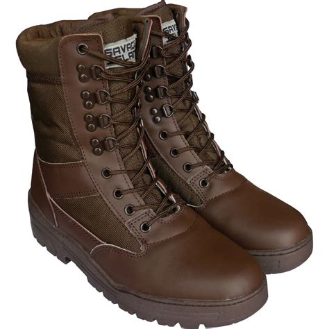 brown army leather combat patrol boots cadet work
