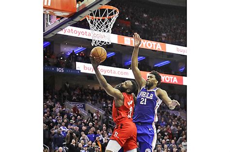 Embiid outshines Harden to lead 76ers in routing Rockets ...