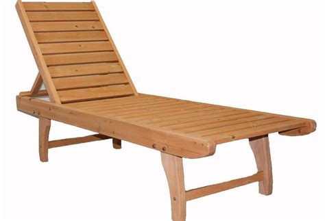 Chaise Outdoor Lounge Patio Wood Chair Furniture Pool