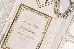 lauren daves custom lasercut gatsby wedding invitation With luxury wedding invitations nj