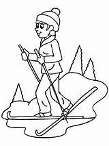 Ski Ausmalbilder Coloring Skiing Kinder Malvorlagen Zum sketch template
