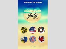 July Events & Ideas Activities Calendar
