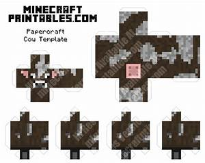 cow printable minecraft cow papercraft template With minecraft cow template