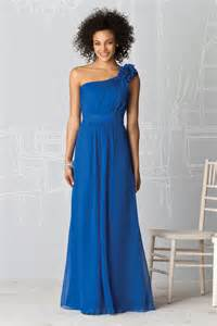 one shoulder bridesmaid dresses buy cheap one shoulder flower royal blue bridesmaid dresses with waist
