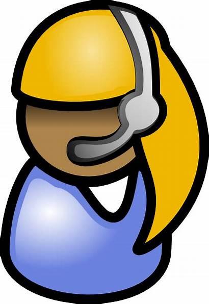 Clip Clipart Customer Vector Person Cliparts Service