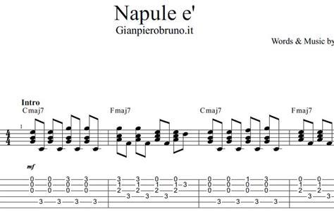 Vento Di Passione Testo Napul 232 Pino Daniele Spartito Per Chitarra