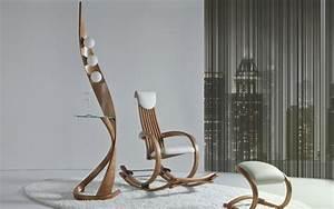 Designer Stehlampen Holz : moderne design m bel aus holz exklusive rundungen und finesse ~ Indierocktalk.com Haus und Dekorationen