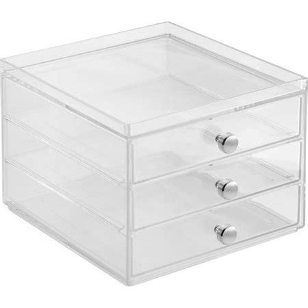 walmart plastic drawers interdesign storage and organization drawers 3 drawer