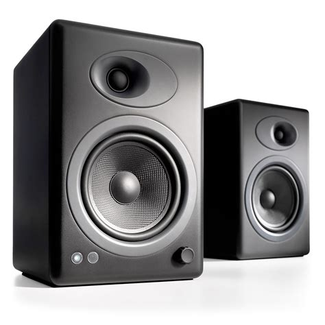 powered bookshelf speakers audioengine a5 powered bookshelf speaker system black