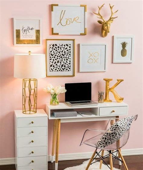 glam   small office  cubicle home office decor