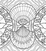 Coloring Seashell Pages Adult Sea Shells Marine Amazing Seashells Patterns sketch template
