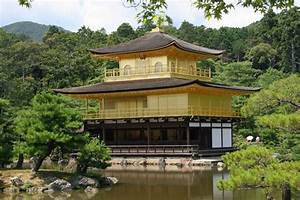 Kinkakuji  U2013 The Golden Pavilion In Kyoto Japan