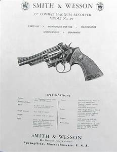 Smith Wesson Model 19 Combat Magnum Rev Instructions