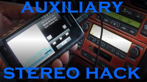 How To Add Aux To An Old Car Stereo For