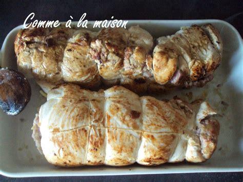 cuisiner un roti de dinde roti de dinde farci aux marrons comme à la maison