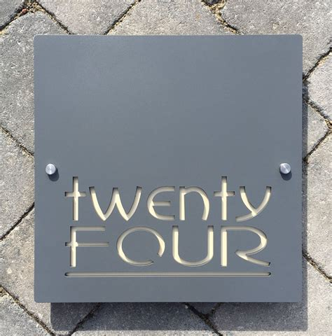 contemporary house number door sign square plaque extra