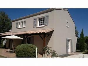 Peinture Facade Maison : facade de maison couleur taupe resine de protection pour ~ Melissatoandfro.com Idées de Décoration