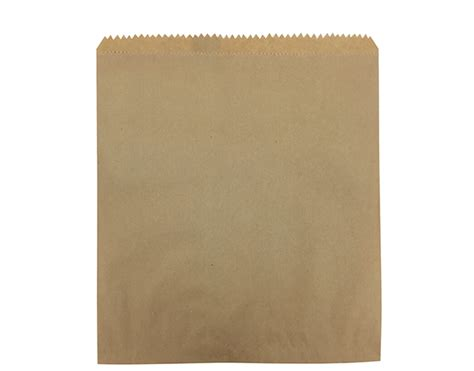 Flat Brown Paper Bags (size #4)