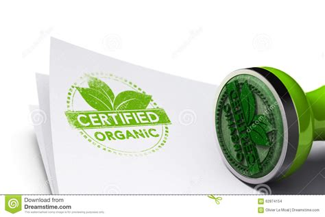 Certified Background Organic Certified Background Stock Illustration Image