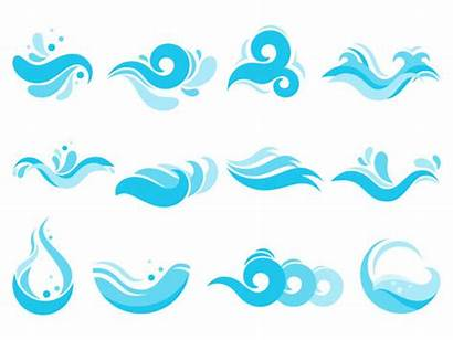 Water Waves Vector Flowing Stream Wave Clip