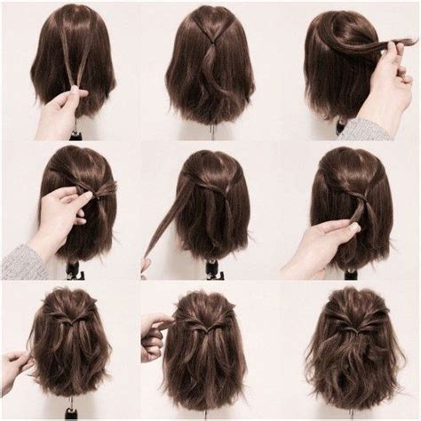 easy short hairstyles ideas  pinterest braids