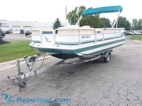 1993 Godfrey Hurricane Deck Boat by 1994 Hurricane Deck 19 Pontoon Boat For Sale
