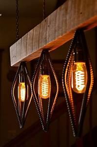 » Wooden Eyes Rustic Industrial Chandelier - Woodworking Crazy