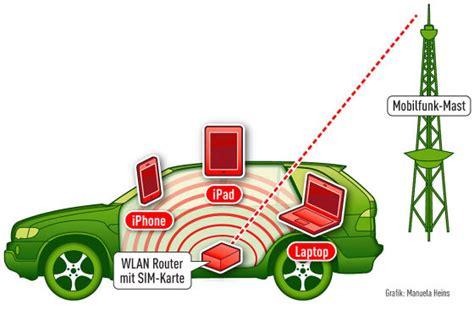 wlan router mit sim karte im auto wie sinnvoll ist wlan im auto autobild de