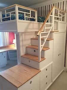 Hochbett Mit Sofa : hochbett mit treppe und schreibtisch lounge sofa ~ Watch28wear.com Haus und Dekorationen